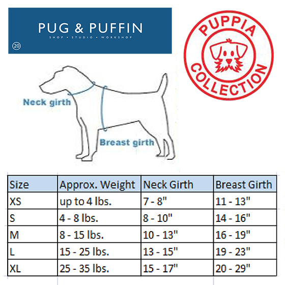 Blue Soft Puppia Harness - Pug & Puffin