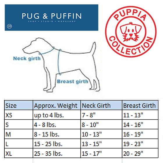 Black soft puppia harness pug puffin